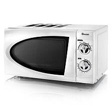 Swan SM3090N 800W 20L Manual Solo Microwave - White