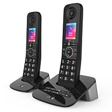 BT Premium Cordless Home Phone with Nuisance Call Blocking, Mobile Sync and Answering Machine - Twin