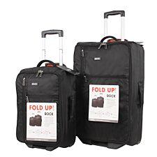 Rock Xpand Black Foldable Trolley Case - Medium