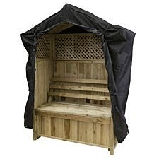 Zest4Leisure Wooden Dorset Arbour With Storage Box & Cover