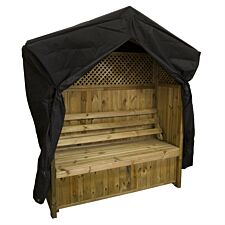 Zest4Leisure Hampshire Wooden Arbour with Storage Box & Cover