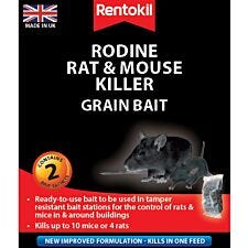 Rentokil Rodine Rat & Mouse Killer Grain Bait Sachets - 2 Pack