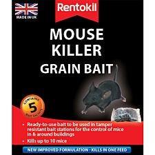 Rentokil Mouse Killer Grain Bait Sachets - 5 Pack