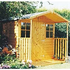 Shire Casita 7ft x 9ft Wooden Garden Shed with Veranda