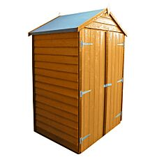 Shire Overlap 4ft x 3ft Wooden Apex Garden Shed