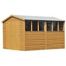 Shire Overlap 8ft x 10ft Wooden Apex Garden Shed