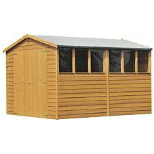 Shire Overlap 6ft x 12ft Wooden Apex Garden Shed