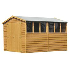 Shire Overlap 8ft x 12ft Wooden Apex Garden Shed