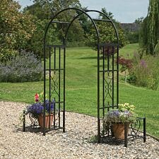 Greenhurst Huntingdon Ornamental Arch & Planters