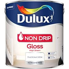 Dulux Interior Pure Brilliant Non Drip White Gloss - 2.5L