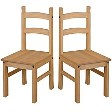 Halea Pair of Pine Dining Chairs