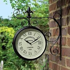 Charles Bentley Paddington Double Sided Metal Wall Clock - Black