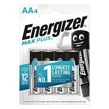 Energizer Max Plus AA Batteries 4 Pack