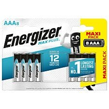 Energizer Max Plus AAA Batteries 8 Pack