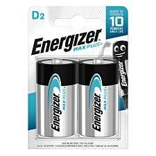 Energizer Max Plus D Batteries 2 Pack