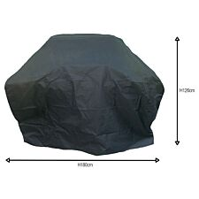 Charles Bentley Universal Premium Waterproof Gas BBQ Cover Large - Black