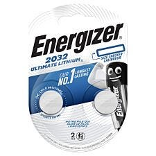Energizer Ultimate Lithium 2032 Batteries 2 Pack