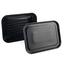 Russell Hobbs Romano Vitreous Enamel Deep Roaster and Baking Tray Set - Black