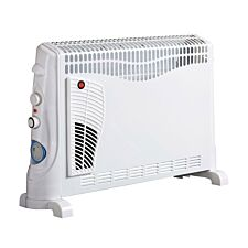 Robert Dyas 2kW Convector Heater with Turbo Fan and Timer