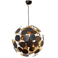 Village At Home Peony Ceiling Fitting - Black