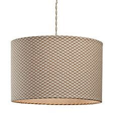 Village At Home Herringbone Cylinder Light Shade - Brown
