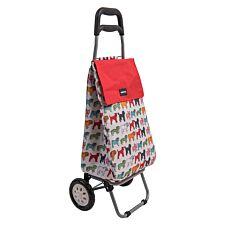 Sabichi Pug Dog Print 2 Wheel Shopping Trolley
