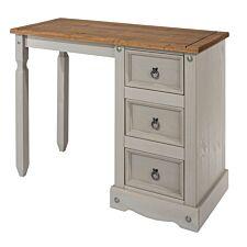 Halea 3-Drawer Pine Dressing Table - Grey