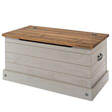 Halea Pine Storage Trunk - Grey