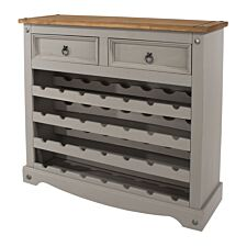 Halea Large Pine Wine Rack - Grey