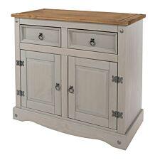 Halea Small Pine Sideboard - Grey