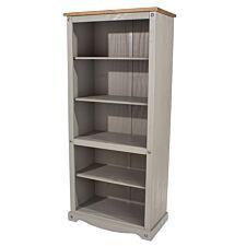 Halea Tall Pine Bookcase - Grey
