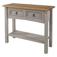 Halea 2-Drawer Hallway Table with Shelf - Grey
