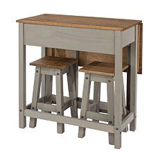 Halea Extending Breakfast Table Set - Grey