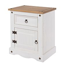Halea 1-Drawer, 1-Door Bedside Cabinet - White