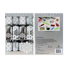 "12 X 12"" Family Silver Snowflake Crackers"