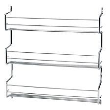 Hahn Metal Wall / Cupboard 3 Tier Spice Rack - Chrome