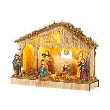 Robert Dyas Battery Operated Wooden Nativity