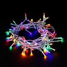 Robert Dyas Battery Operated LED Transparent String Lights - Multi-Coloured