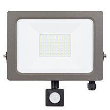 Status Natural Grey PIR LED Flood Light - 50W