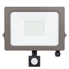 Status Natural Grey PIR LED Flood Light - 10W