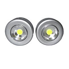 Unicom 2pk COB Push Lights - Silver