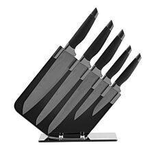 Tower 5-Piece Damascus Knife Block Set - Black
