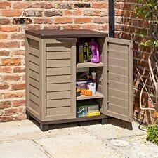 Rowlinson Mocha Plastic Utility Cabinet
