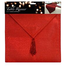 Glitter Table Runner - Red