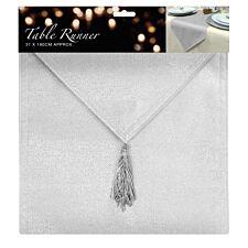 Glitter Table Runner - Silver