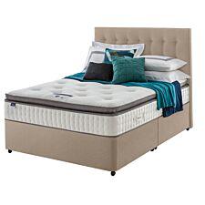 Silentnight Miracoil Geltex Divan Bed - Sandstone