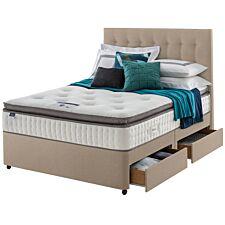Silentnight Miracoil Geltex 4 Drawer Divan Bed - Sandstone