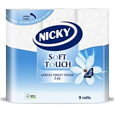 Nicky Soft Touch Toilet Tissue - 9 Rolls