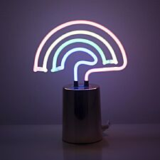 Gingersnap Mini Rainbow Neon Lamp with White Pearlescent Base