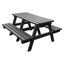 NBB Recycled Heavy Duty A-Frame 1.8m Picnic Table - Black